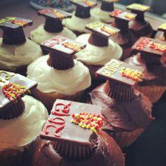 Graduation cupcakes I made for eric!