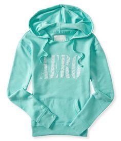aeropostale Pullover Long Sleeve Full Zip womens MINT lace popover hoodie XS #Aeropostale #Hoodie