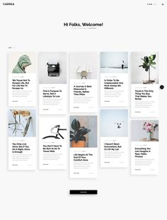 Caprisa - Personal WordPress Theme by Awsm Themes on Behance Blog Website Design, Blog Design, Web Design, Wireframe Design, Web Layout, Website Design Inspiration, Best Wordpress Themes, Instagram Ideas, Instagram Posts