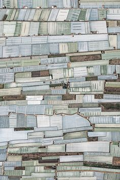"""Aerial photographs of """"mar del plástico"""" - greenhouse farming at the region of Almeria (Andalusia, Southern Spain). -Bernhard Lang"""