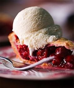 """""""Can you make a cherry pie, charming Billy?""""  - from the song of long ago. This looks good enough to eat - now."""