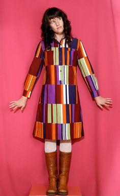 Vintage 1973 Marimekko Color Block Shirt by houseofprettyparlor, $220.00