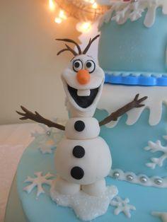 "snowman OLAF from Disney ""Frozen"" cake  (gum paste)"