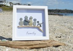 CORNISH BEACH PEBBLE DRIFTWOOD ART PICTURE FATHERS DAY - CAN BE PERSONALISED in Home, Furniture & DIY, Home Decor, Wall Hangings   eBay