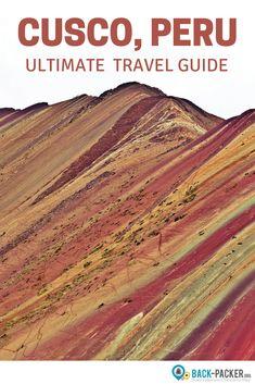 A travel guide to the best things to do in Cusco, Peru. Visit the local market a… A travel guide Travel Jobs, Ways To Travel, Best Places To Travel, Budget Travel, Travel Guide, Machu Picchu, Honduras, Bolivia, Ecuador
