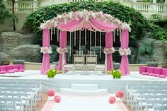 Indian Wedding Decor Company, Occasions by Shangri-La, provides indian wedding mandaps with full service event decor & floral for South Asian weddings. Wedding Mandap, Wedding Stage, Wedding Ceremony, Wedding Venues, Dream Wedding, Wedding Ideas, Gift Wedding, Outdoor Ceremony, Wedding Hair
