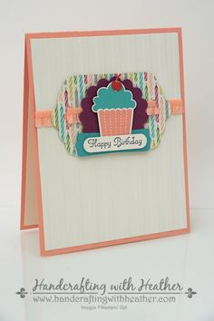 Create a Cupcake & Birthday Basics Birthday Card Set – Stampin' Up! Homemade Birthday Cards, Happy Birthday Cards, Cool Cards, Quick Cards, Cupcake Birthday, Cupcake Party, Scrapbook Cards, Scrapbooking Ideas, Card Tags
