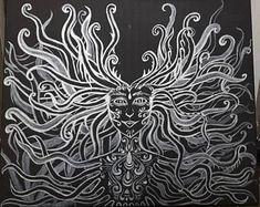 Medusa - my acrylic painting on canvas