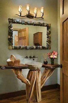 Encantadores baños rústicos | ~ La Casa de Piedra | Pinterest ...