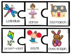 $  Spring Themed Silly Sentence builders in French!  My students love playing with these!