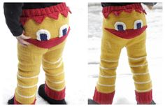 Knit Kids Easter Chicken Pants Free Knitting Pattern Free Knitting, Baby Knitting, Knitting Patterns, Wooden Knitting Needles, Baby Jeans, Cut Off Jeans, Drops Design, My Girl, Free Pattern
