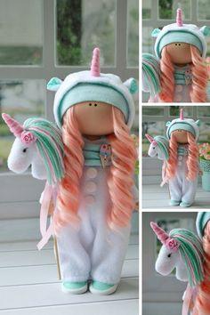Clothes Pin Crafts Fairies 35 Ideas For 2019 Muñeca Diy, Doll Clothes, Clothes Crafts, Unicorn Doll, Cute Dolls, Fabric Dolls, Nursery Decor, Baby Dolls, Handmade