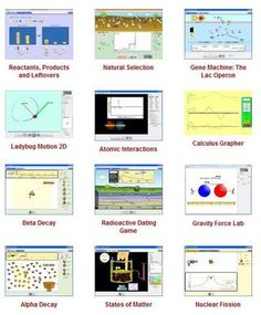 free math and science simulations for elementary, middle, high school and college level