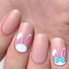 I've gathered some of the cutest Easter nail ideas for you to try out. Easter nail designs that are festive and bright. Easter Nail Designs, Easter Nail Art, Nail Art Designs, Christmas Manicure, Holiday Nails, Seasonal Nails, Blue Nails, My Nails, Red Nail