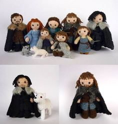 Literary crochet projects, from Game of Thrones to LOTR to Where the Wild Things Are.