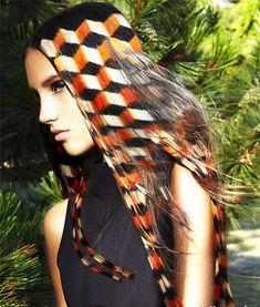 Hair Stenciling - Der Hair Art Trend, der Augäpfel gewinnt