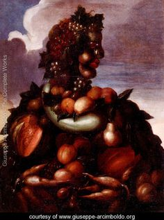 Learn more about The Seasons Pic 3 Giuseppe Arcimboldo - oil artwork, painted by one of the most celebrated masters in the history of art. Giuseppe Arcimboldo, Italian Painters, Italian Artist, Tuscan Art, Collections Of Objects, Fantasy Paintings, Portraits, Caravaggio, Colorful Drawings