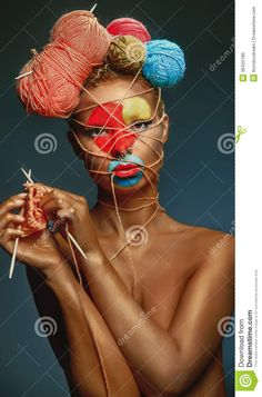 Woman With Creativity Hairstyle - Download From Over 53 Million High Quality Stock Photos, Images, Vectors. Sign up for FREE today. Image: 38425186