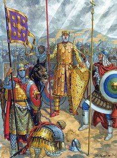 Emperor Vasilaeios (Basil) II on campaign in Georgia, 1020.