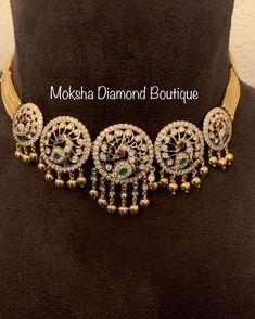 Antique Jewellery Designs, Fancy Jewellery, Temple Jewellery, Silver Wedding Jewelry, Gold Jewelry, Diamond Jewelry, India Jewelry, Jewelery, Gold Bangles Design