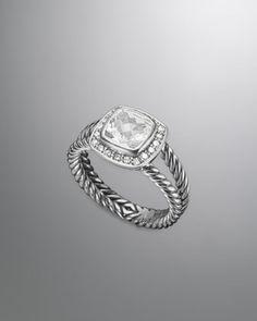 Petite Albion Ring, White Topaz by David Yurman at Neiman Marcus.  Beautiful cocktail ring!