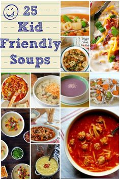 Kid Friendly Soups http://www.lifewiththecrustcutoff.com/25-kid-friendly-soups/ #kidfriendly #soup