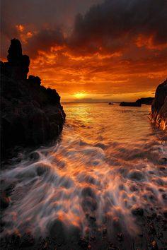 Un maravilloso atardecer en la costa de La isla bonita ✯ Isla de La Palma