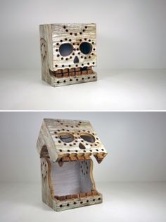 """Skull Box: Grimes has added a new motif to his already growing line of monster boxes: the glowing skull. This reclaimed wood box is a great nod to Dia de los Muertos, and is 100% handmade in Chicago. I've seen Grimes at work and his passion is evident in these textured gift boxes."" Dolan Geiman"
