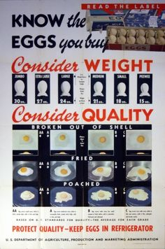 Know The Eggs You Buy, 1948 - original vintage poster listed on AntikBar.co.uk