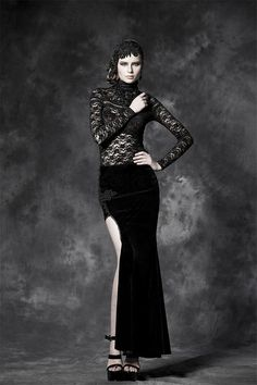 Gothic Long Split Skirts for Ladies Steampunk High by SteelSir