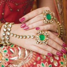 punja with ring hand jewelry