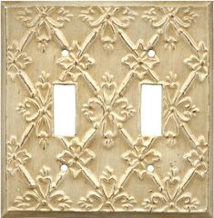 Baroque White - Shabby Chic Switch Plates - Outlet Covers