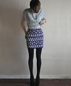 Sweater skirts are probably the easiest sewing project for beginners. no need for a pattern.