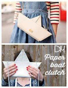 DIY Knockoff Moschino Cheap  Chic Boat Trip Bag Tutorial from Clones N Clowns here.Really good tutorial and you dont need a sewing machine (although I would probably top stitch the leather with my sewing machine). Top Photo: The Cherry Blossom Girl hereholding a $688 Moschino Cheap  Chic Boat Trip Bag found here. For more DIY knockoffs go here:truebluemeandyou.tumblr.com/tagged/knockoff