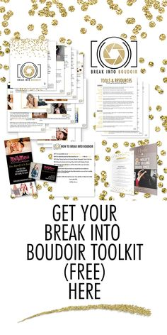 """Free """"Break into Boudoir"""" Marketing Toolkit for photographers, yours to download (free) here: http://bit.ly/breakintoboudoir"""
