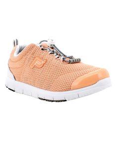 Loving this Peach Travel Walker II Mesh Sneaker on #zulily! #zulilyfinds