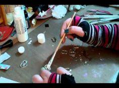 Soda Tab Mini Album Binding 1--This is part 1 of LittleMissStamper's soda tab tutorial.