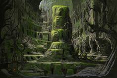 Goblin Punch: Dwellers of the Great Necropolis Fantasy City, Fantasy Castle, Fantasy Places, High Fantasy, Environment Concept Art, Environment Design, Skyrim Concept Art, Dwarven City, Fantasy Dragon
