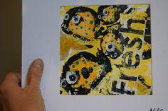 Acrylique originale & emballage papier collé sur par GermainHenneka, €60.00