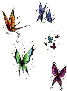 Butterfly tattoo designs by ~Cliomeep on deviantART