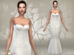 Lana CC Finds - Wedding dress 02 by BEO