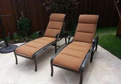 Tropitone Ravello padded sling chaise lounge chairs Enjoy Your Outdoor Room - Yard Art Patio & Fireplace