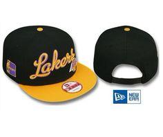NBA LA Lakers Snapback Hats Caps Black NewEra 2497 only US$8.90