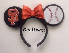 Hey, I found this really awesome Etsy listing at https://www.etsy.com/listing/183952765/mlb-san-francisco-giants-minnie-mouse