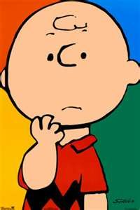 Charlie Brown...the look on my face when the grandkids ask something & I'm not quite sure how to answer! LOL!