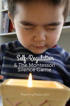 Self-regulation and the Montessori silence game -- What does the Montessori Silence Game have to do with your child's SELF-REGULATION? {PlantingPeas.com}