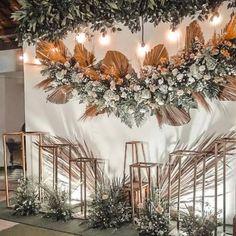 Wedding Backdrop Design, Rustic Wedding Backdrops, Wedding Reception Backdrop, Wedding Stage Decorations, Engagement Decorations, Backdrop Decorations, Wedding Mandap, Wedding Receptions, Wedding Ideas