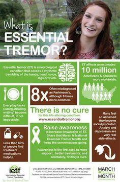 Tremor Disease Symptoms, Parkinson's Disease, Essential Tremors, What Is Essential, Ankylosing Spondylitis, Invisible Illness, Health Facts, Chronic Illness, Fibromyalgia