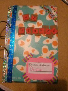 Diario que está empezando mi niña de 9 años, ella solita!