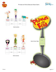 phineas ferb board game printable- I want to try this.